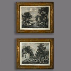 Large Pair of Early 19th Century Empire Period Engravings