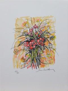 Le Fleurs #3-Limited Edition Print, Artist Signature is Illegible