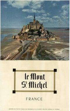 Le Mont St. Michel France original vintage travel poster