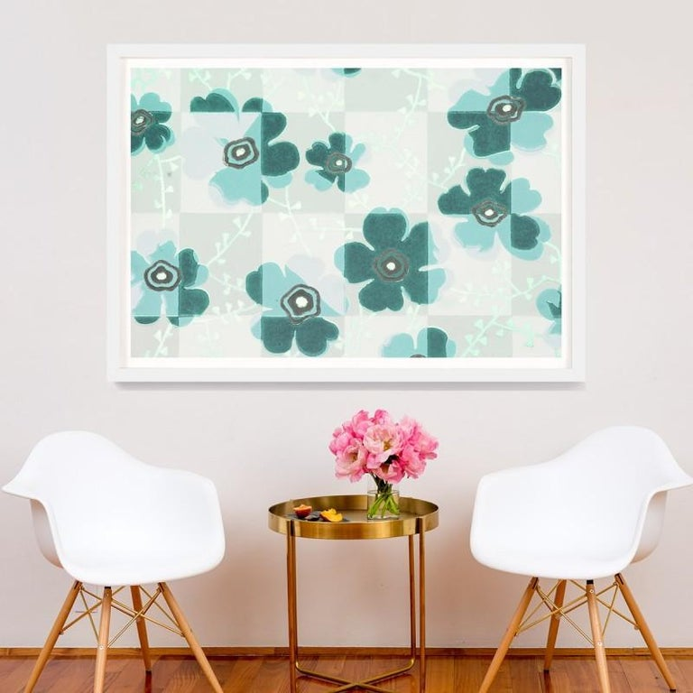 Unknown Abstract Print - Le Mural No. 11, giclee print, framed