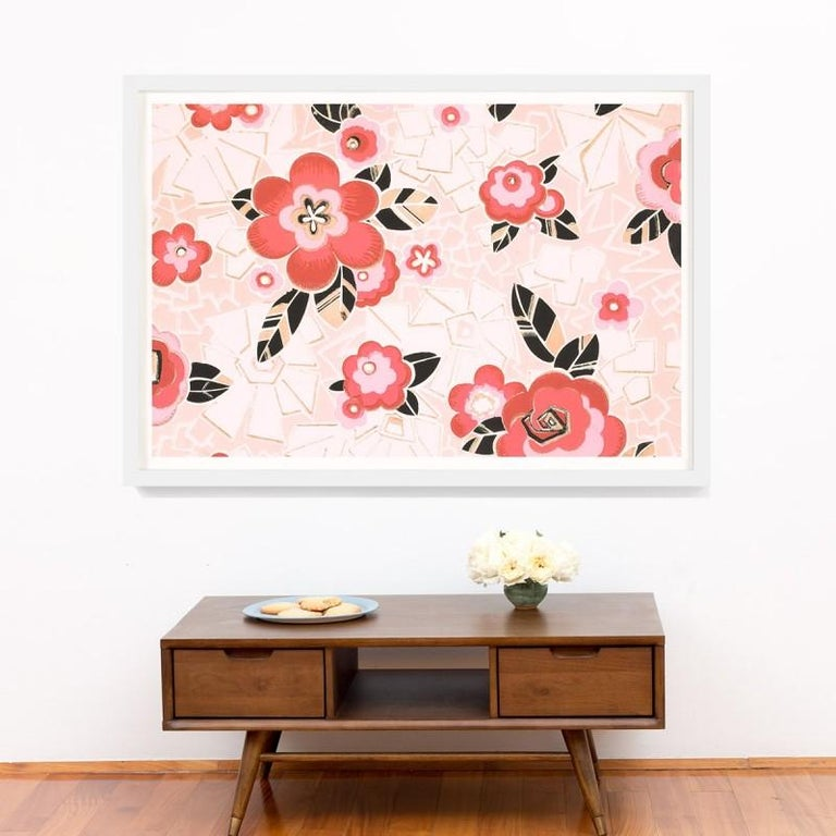 Unknown Abstract Print - Le Mural No. 12, giclee print, framed