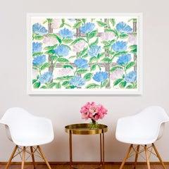 Le Mural No. 6, giclee print, framed