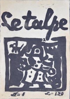 Le Talpe - Original Woodcut - 1914