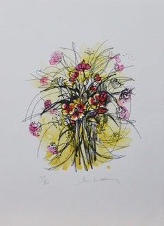 Les Fleurs-Limited Edition Print, Artist Signature is Illegible