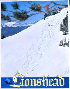 Lionshead, Vail, Colorado Vintage Ski Poster USA (c.1970) Powder Day