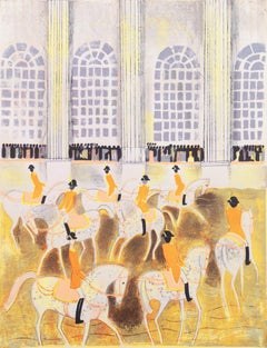 'Lipizzaners in Vienna', Post-Impressionist Dressage, Horses in the Ring