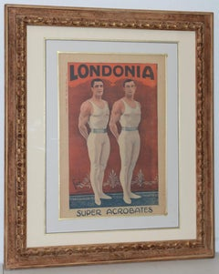 Londonia Super Acrobats Antique French Poster C.1900
