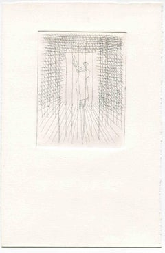 Loneliness - Original Etching and Drypoint - Mid-20th Century