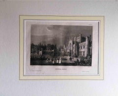 Lowther Castle - Original Lithograph - Mid-19th Century