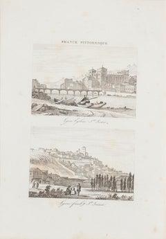 Lyon - Original Lithograph - 19th Century
