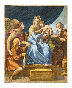 Madonna and Child - Original Etching  - 17th Century
