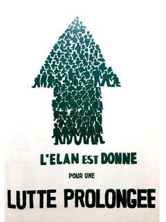Mai 68 Original French Poster - Prolonged Struggle - Mai 68