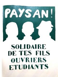 Mai 68 Original French Poster - Solidarity - Mai 68