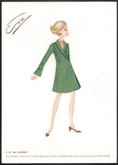 'Malibrand' Italian 1960s Women's Fashion Design Illustration