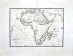 Map of Africa - Original Etching by C. Brue - 1820