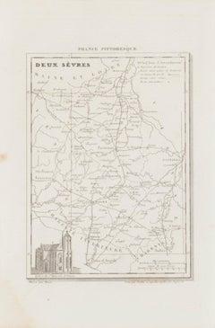 Map of Deux Sèvres - Original Etching - 19th Century