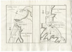 Map of Matavia Bay on Tahiti by Cook - Etching / engraving - 18th Century