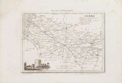 Map of Somme - Original Etching - 19th Century