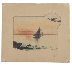 Marina - Original Lithograph - 20th Century