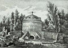 Mausoleum of Theodore in Ravenna - Original Lithograph - 19th Century