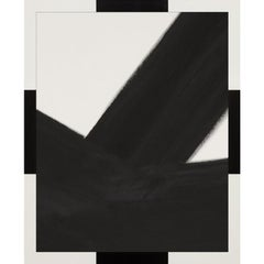 Metal Abstracts, Black No. 2, framed