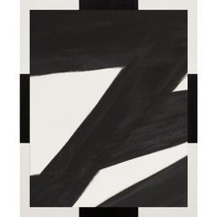 Metal Abstracts, Black No. 4, framed