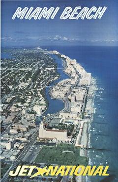 Miami Beach Jet National original vintage travel poster