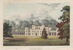 Michel Grove, Sussex English Regency country house colour aquatint, 1818
