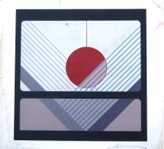 Mid 20th Century Geometric Silkscreen on Paper
