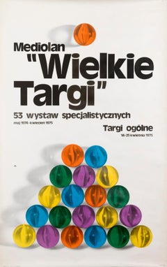 """Milan 'The Great Fair'"" Original Vintage Exhibition Poster (Polish text)"