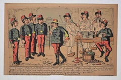 Military Kitchen - Original Lithograph - 1870