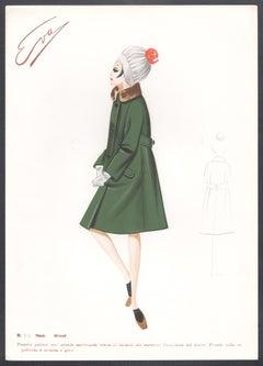 'Minot' Italian 1960s Women's Fashion Design Illustration