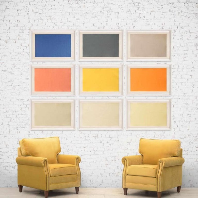 Modern Color Study Rectangle no. 4, silkscreen, framed - Print by Unknown