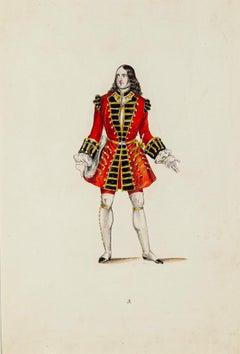 Modern Costume - Original Lithograph Late 19th Century