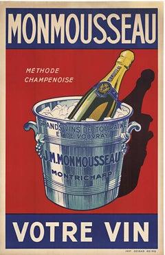 Monmousseau Votre Vin original sparkling Champagne vintage poster
