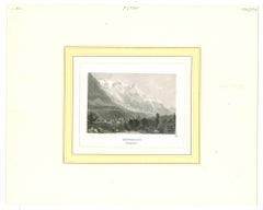 Montblanc - Original Lithograph - Mid-19th Century