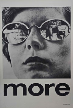 MORE - 1969 - POSTER - CULT - DRUG THEMED - SCORE BY PINK FLOYD - SUPER RARE