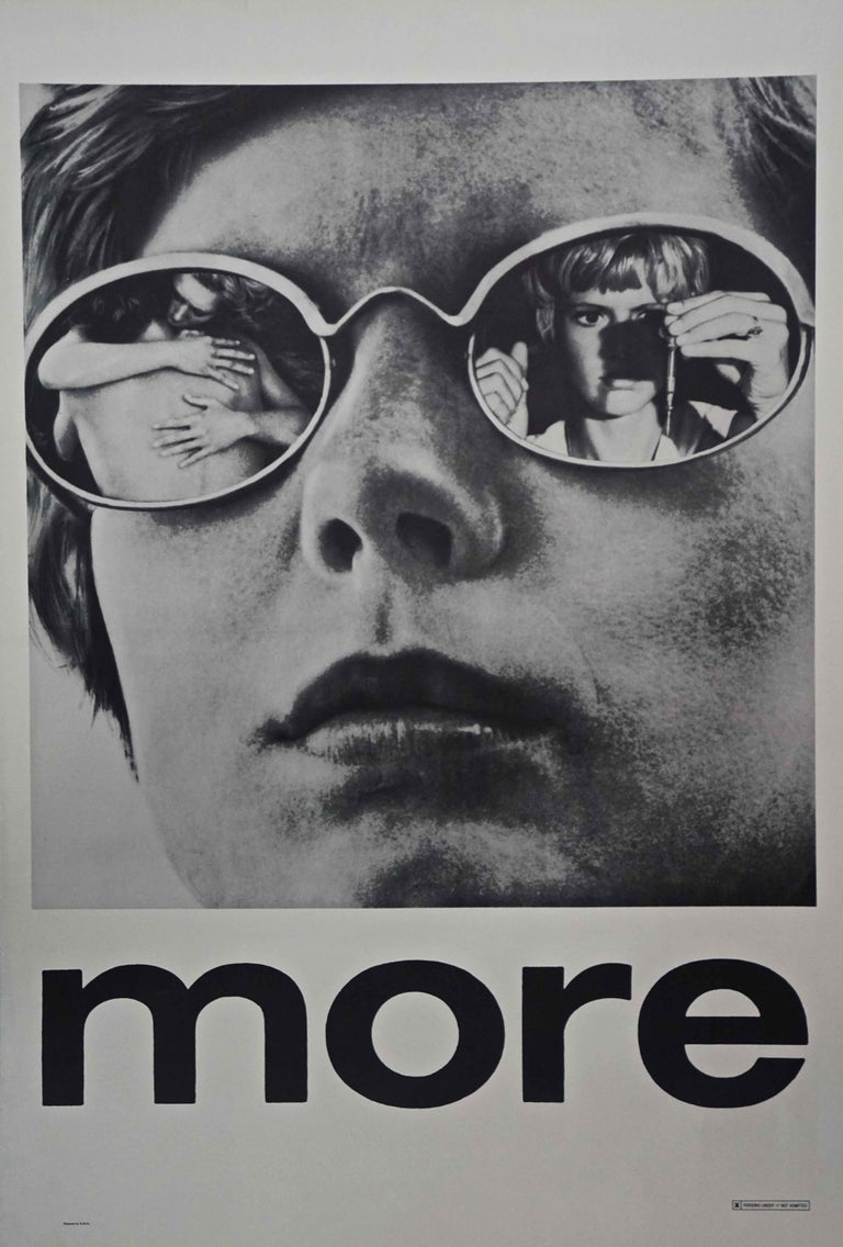 Unknown More 1969 Poster Cult Drug Themed Score By Pink