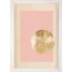 Morning Glory, Pink 1, Gold Leaf, Framed