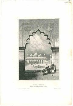 Moti - Musjet - Original Lithograph - Mid 19th Century