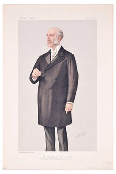 Mr. Chauncey M. Depew - Original Lithograph by Spy for Vanity Fair - 1889