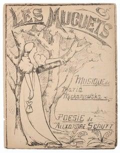 Music and Poetry Program - Original Litograph - 1880