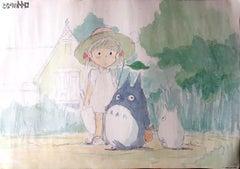 My Neighbour Totoro Original Vintage Poster, Studio Ghibli (1988), Miyazaki