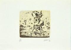 Mythology - Original Etching - 1987