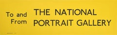 National Portrait Gallery, London England Routemaster Bus sign c. 1970 poster