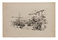 Nature - Original Lithograph - 19th Century