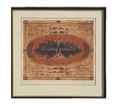 Neutral Tonal Tribal Lithograph Edition 31 of 50