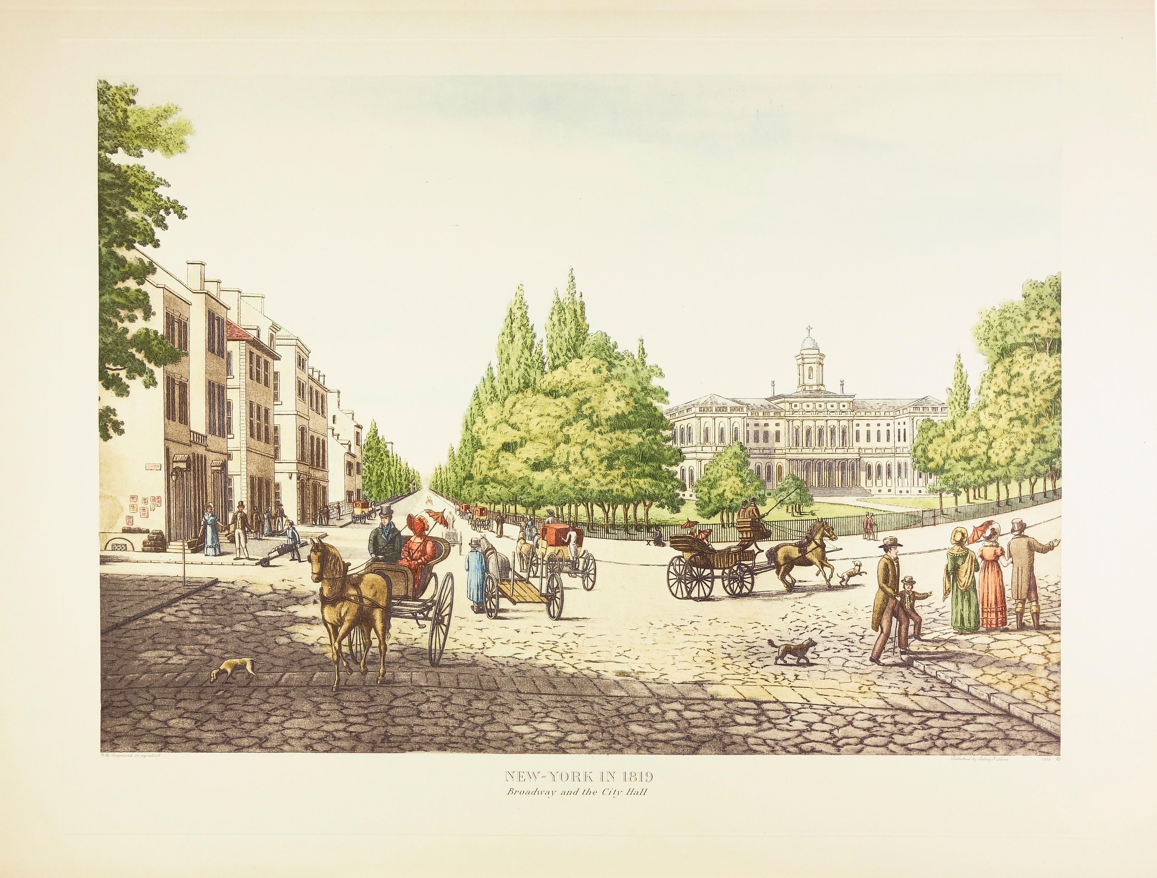 New York in 1819, Broadway & City Hall