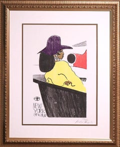 """""""New York- JFK 09.70"""" Signed, Limited Edition Lithograph"""