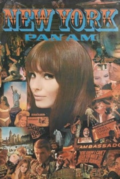 NEW YORK PAN AM POSTER FROM 1967